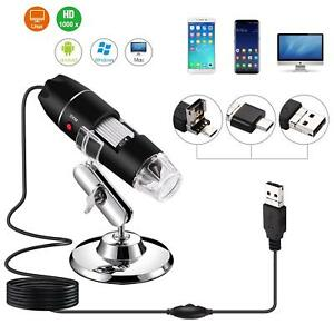 1000X-1600X-8-LED-USB-Zoom-Digital-Microscope-Hand-Held-Biological-Endoscope-US