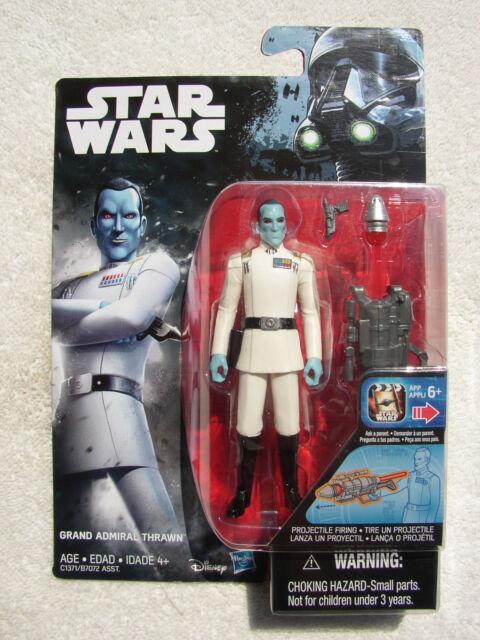 "B Star Wars Grand Admiral Thrawn 3.75 "" Figur Org Blau & Rot Medaille Fehldruck"