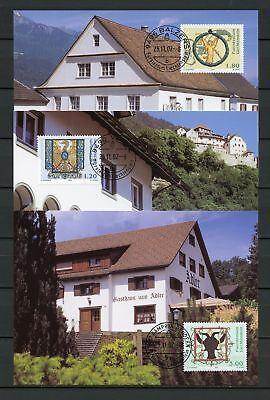 133973 Liechtenstein Nr.1307-1309 Est Maximumkarten Gasthausschilder !!! Eine GroßE Auswahl An Modellen