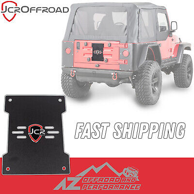 fits 2007-2018 Jeep Wrangler JK Black PC JCR Offroad Tailgate Cover Plate