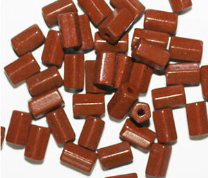 pack of 20 Matte Brown Fossil Look Disc Czech Pressed Glass Beads Beads & Jewellery Making