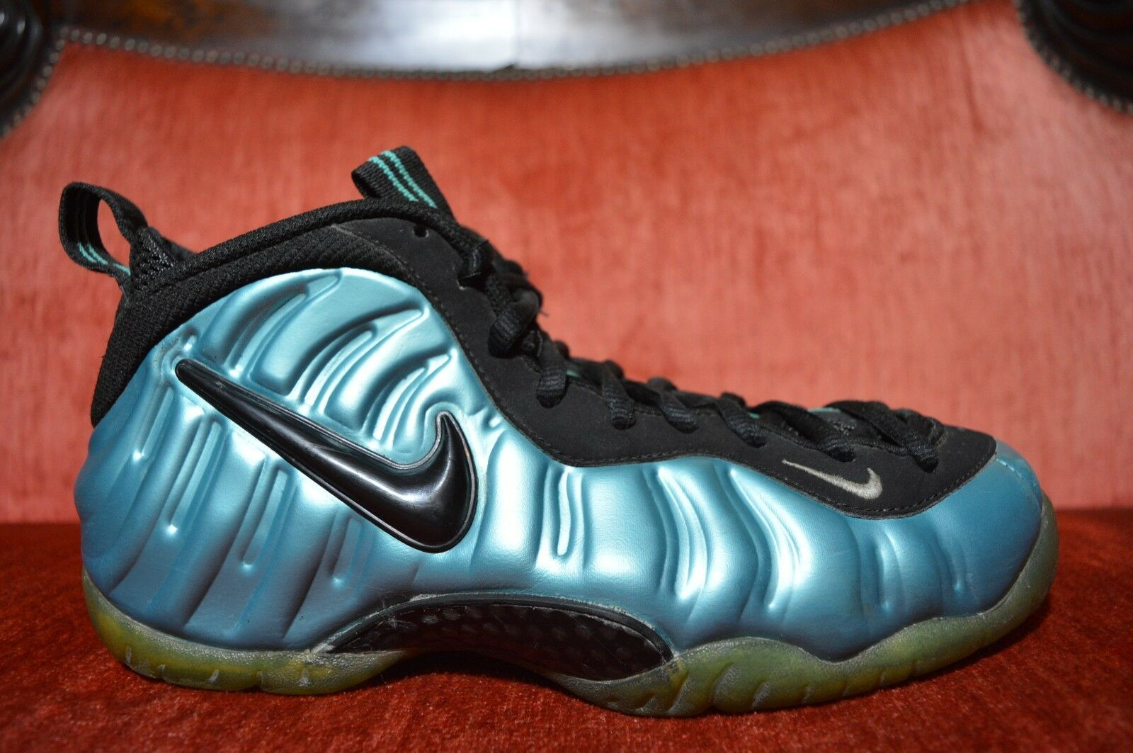 Nike Air Foamposite Pro Retro/Black-White Electric Blue 2011 624041-410 Size 8