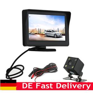 Rueckfahrkamera-Autokamera-mit-4-3-039-039-LCD-Monitor-Einparkhilfe-System-Nachtsicht