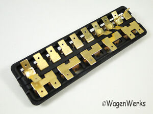 s l300 vw karmann ghia fuse box 10 fuses 1967 to 1971 ebay karmann ghia fuse box at eliteediting.co