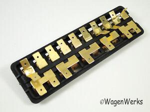 vw bug fuse box 10 fuses 1967 to 1971 ebay 2012 Volkswagen Beetle Fuse Diagram 1971 super beetle fuse box