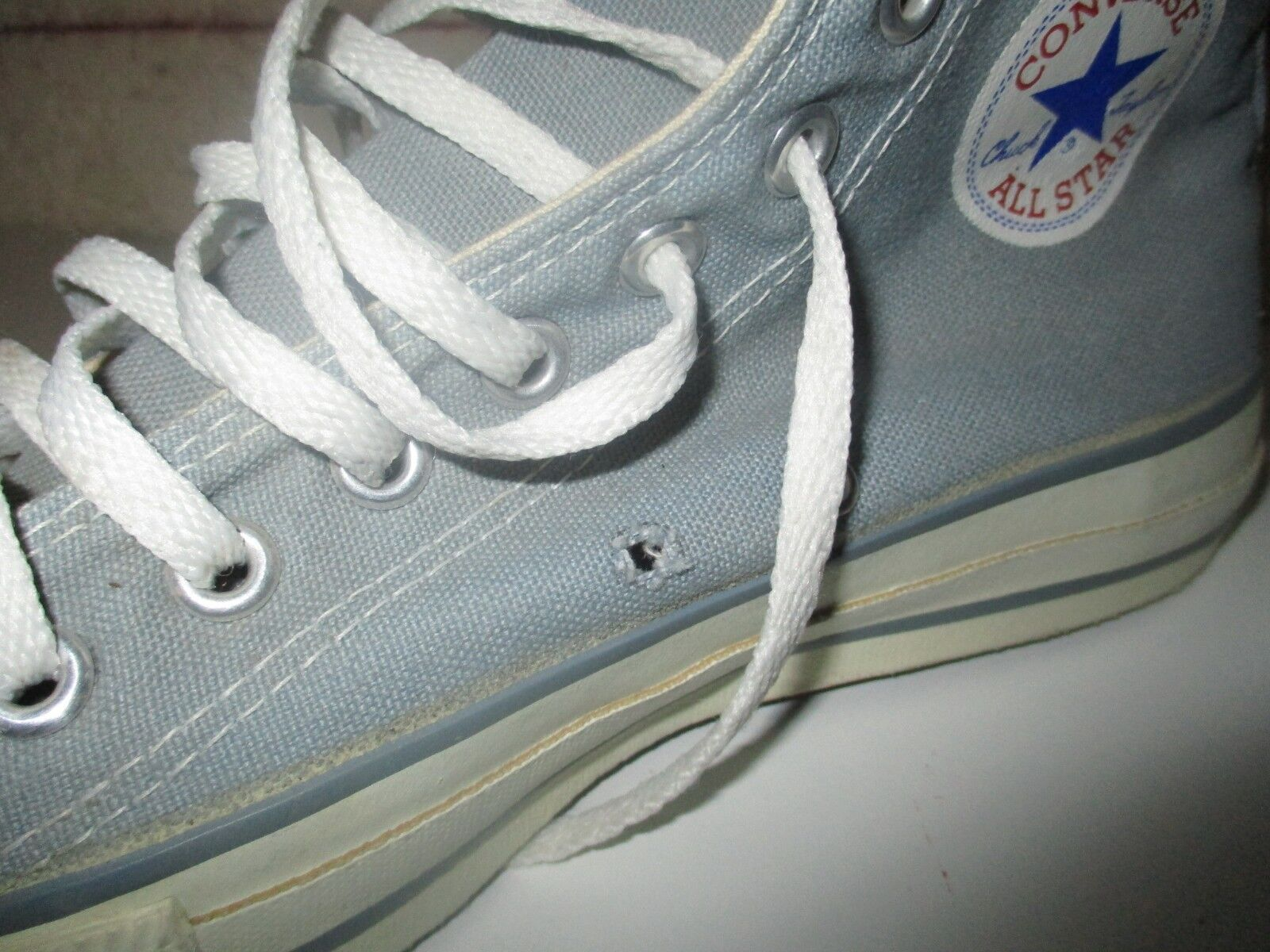 CONVERSE ALL-STAR bleu rare 80's vintage Made in USA collector 80's rare USA 7,5 7 1/2 41 ecb103