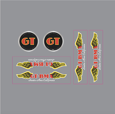 GT BMX Santa Ana decal set black