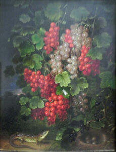 """perfect 24x36 oil painting handpainted on canvas""""Currants""""@11168"""