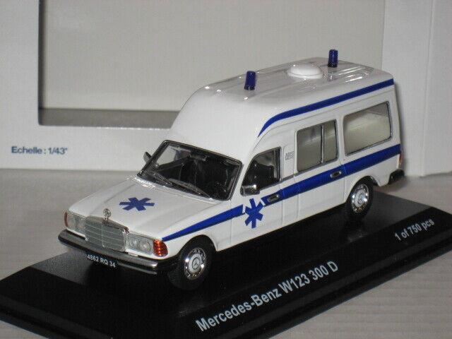 Norev Ambulancia Mercedes Benz W123 300D Limited 1 de 750 Krankenwagen 1 43 Rara