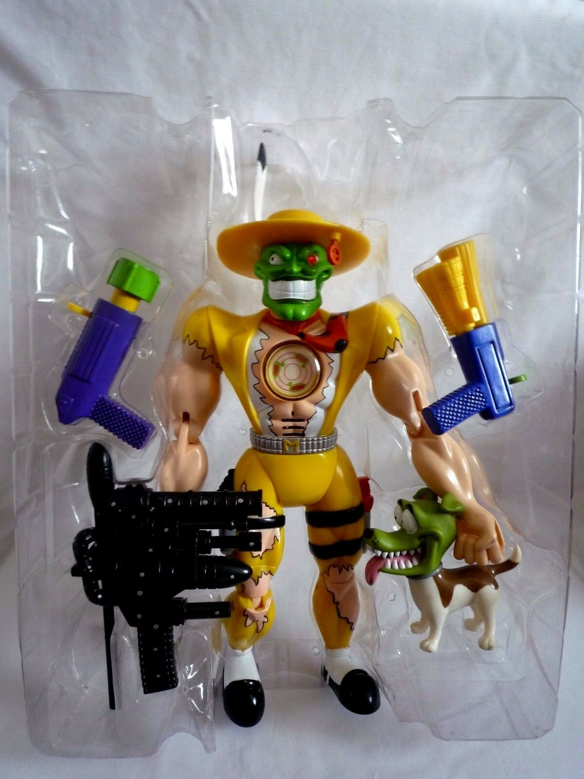 THE MASK ANIMATED SERIES 12 INCH FIGURE WITH MILO MILO MILO MASK AND ALL ORIGINAL WEAPONS 44f8d3