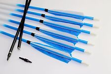 Pretty 6pcs Handmade carbon arrows turkey feather SP400 hunting arrows Archery