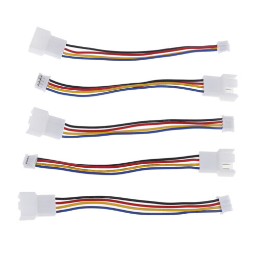 2Pcs Universal small 4 Pin to 3pin 4pin fan PWM connector extension cable xc
