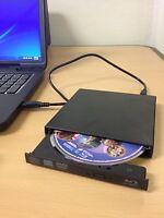 Black USB External Blu Ray Combo Drive - CD/DVD Burner - 2x BD Player - PC/Mac