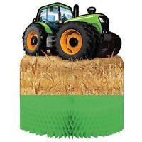 Green Tractor Centerpiece. Boy, Farm, Birthday Party