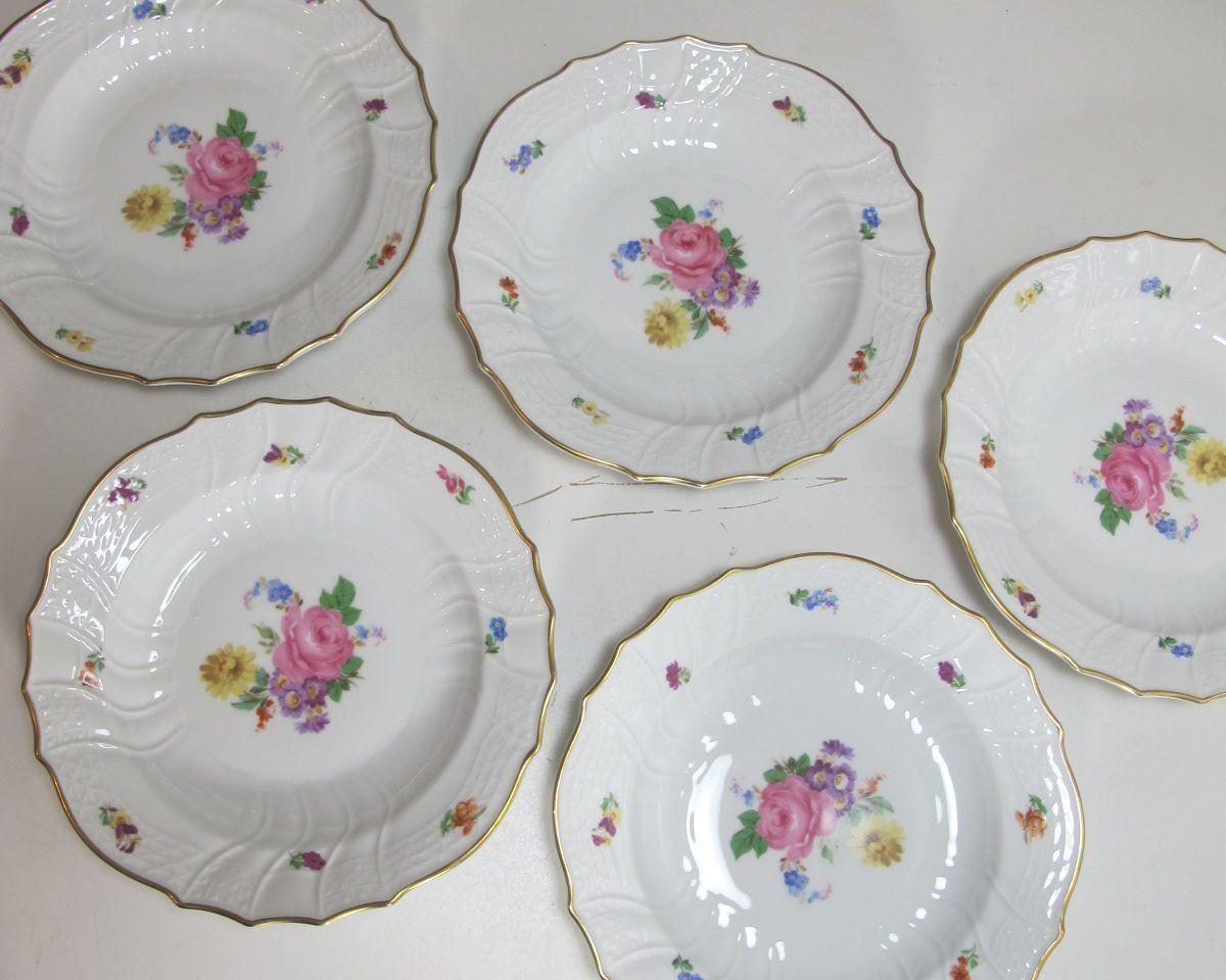 5 assiettes à soupe Profondeur Assiette HUTSCHENREUTHER Dresde Moritzburg 5 pièces (kr2)