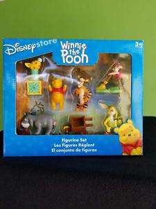 RARE Disney Store Winnie l/'ourson PVC Figurine Cake Topper Set