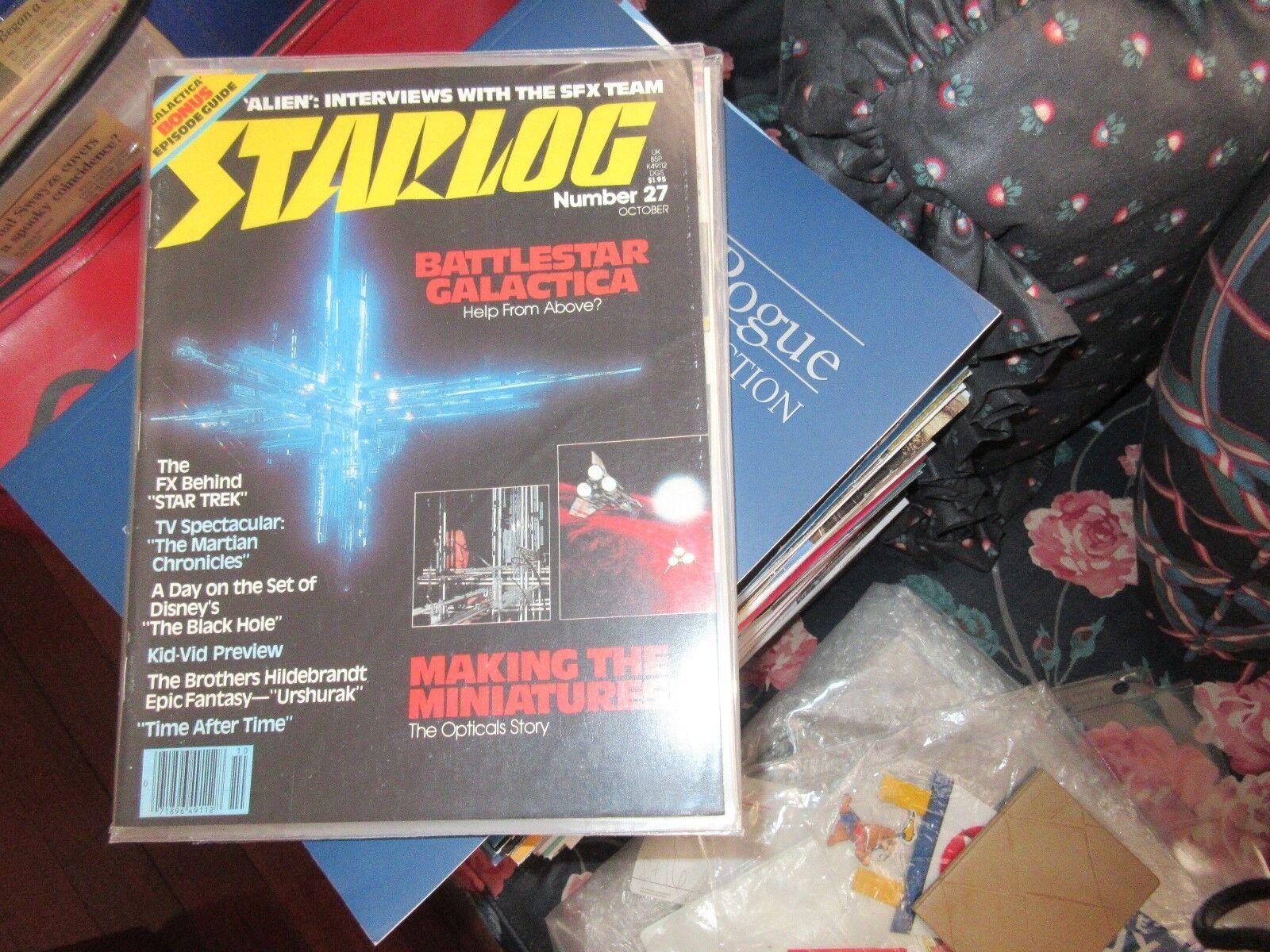 STARLOG , #27 , New/Old Inventory , Alien , Battlestar