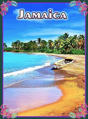 Cayman Islands Caribbean Island Sea Ocean Beach Travel Advertisement Art Poster