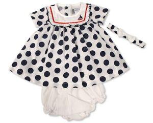Baby-Girls-Summer-Dresses-Cotton-with-Panties-amp-Headband-Sizes-Newborn-to-24-m