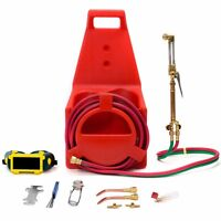 Portable Victor Type Welding & Cutting Torch Kit Oxygen Acetylene Tote Carrier on sale
