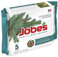 Quantity of 8 Packs Jobe's Evergreen Tree Shrub Fertilizer Spikes NEW 01001 Garden