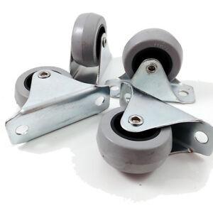 40mm-FIXED-WHEEL-SOFT-TREAD-CASTORS-40mm-x-17mm-WHEEL-66mm-x-25mm-PLATE