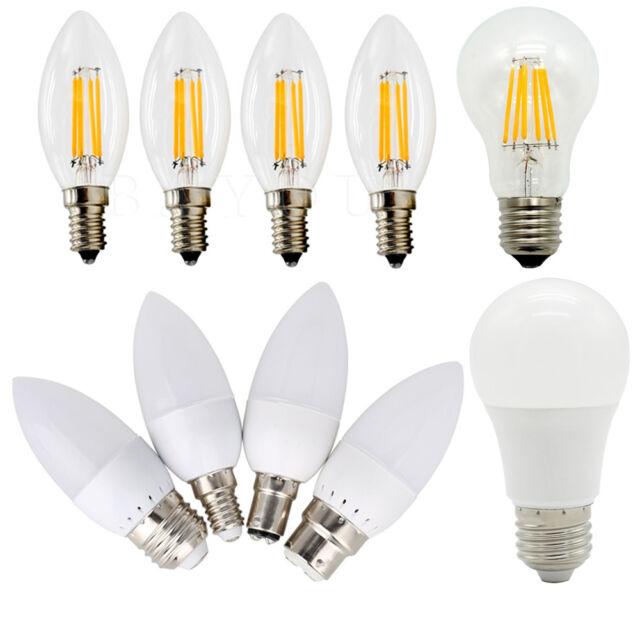E27/E14/B22 LED Light 3W4W5W6W7W8W9W10W12W15W18W24W36W White Lamp 220V-240V Bulb