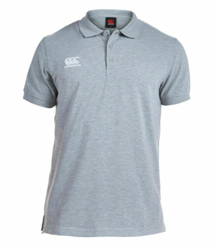 S-XXL Canterbury Rugby Training Waimak Pique Polo Shirt Short Sleeve