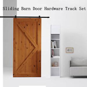 2M-Sliding-Barn-Door-Hardware-Track-Set-Kit-Powder-Coat-Steel-Black