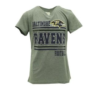 Baltimore-Ravens-Official-NFL-Apparel-Kids-Youth-Girls-Size-Athletic-T-Shirt-New