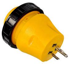 HQRP RV Locking Adapter 15A Male to 30A Female Twist Lock Power Cord Plug