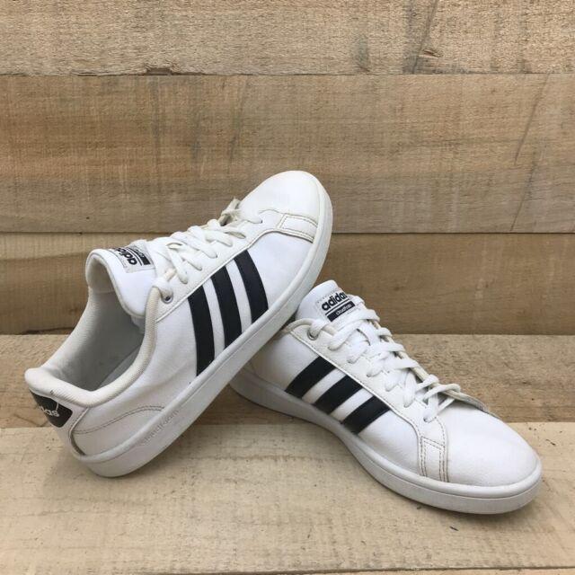 Size 8 - adidas Cloudfoam Advantage White Black - AW4294