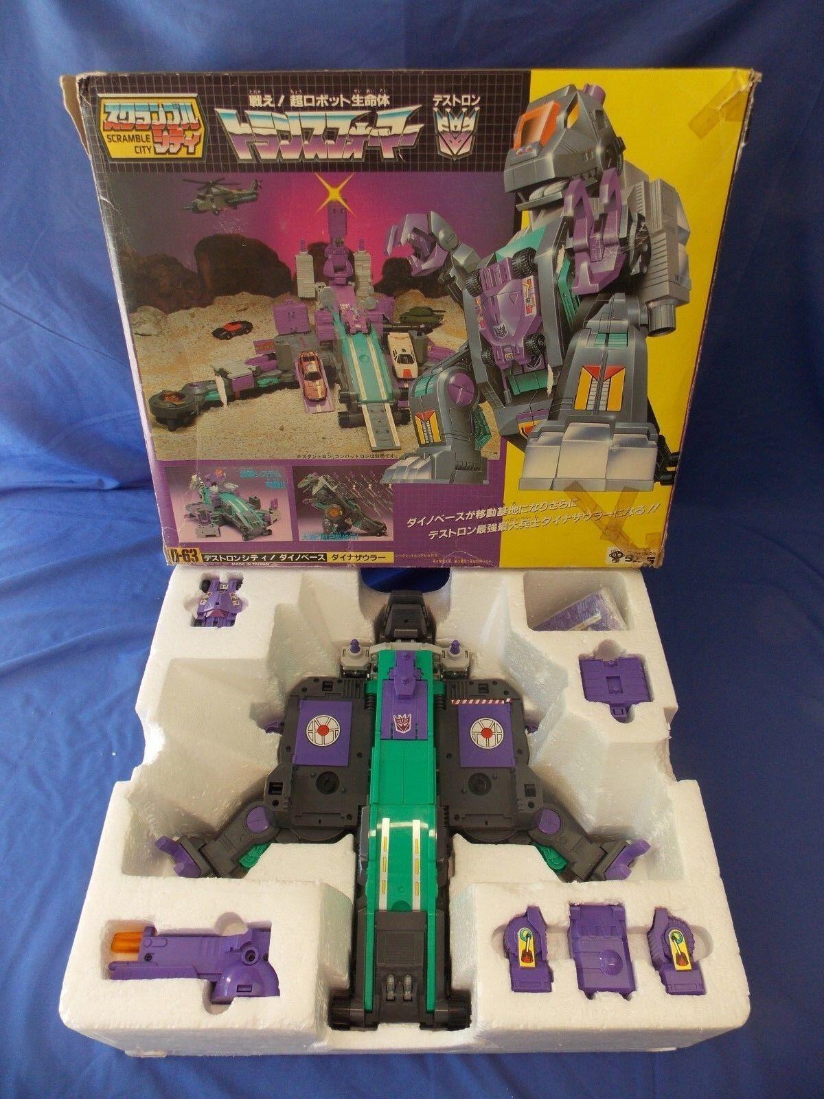 Transformers G1 D-63 Trypticon Destron Scramble City Base Con Caja Takara 2018