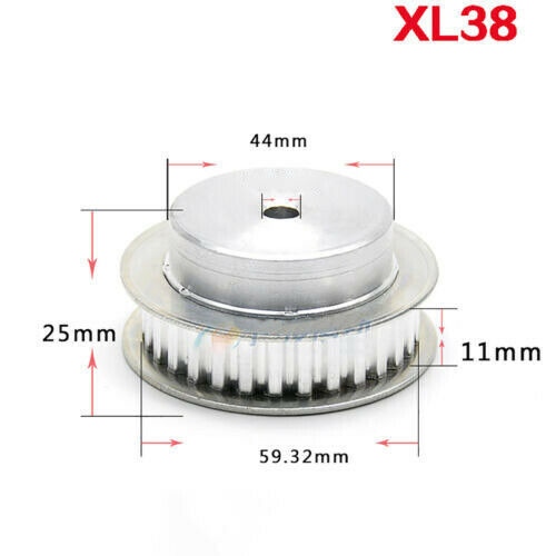 Step Synchronous Wheel 10T-80T Aluminum Timing Pulley for Reprap 3D Printer CNC
