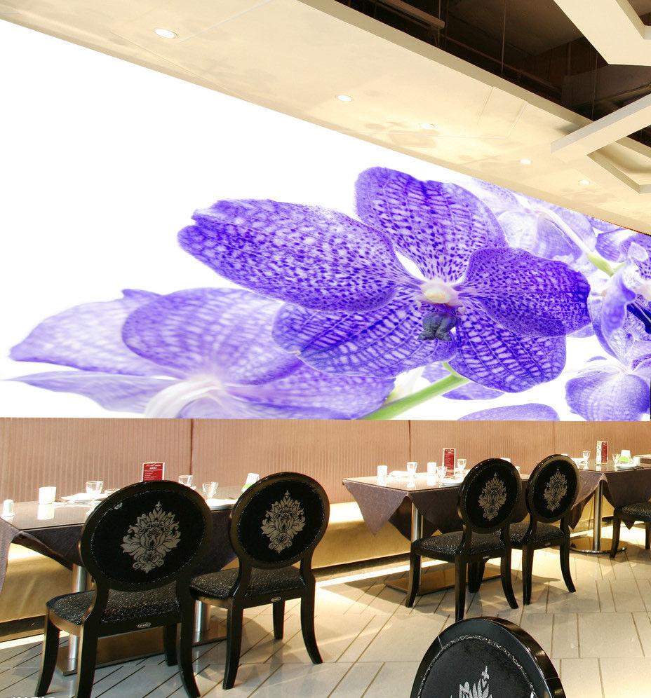 3D lila Flowers 728 Wallpaper Mural Paper Wall Print Wallpaper Murals UK Lemon