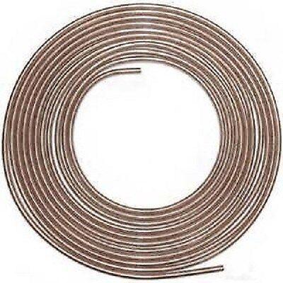 4 Rolls   3//16   1//4  5//16  3//8  x 25 Roll   STEEL ZINC BRAKE LINE TUBING