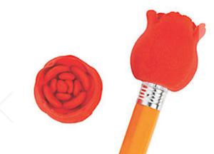 Pack-of-12-Valentine-Red-Rose-Eraser-Pencil-Toppers-Teacher-Rewards