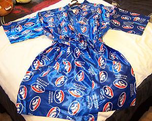 Afl Robe Kimono Dressing Taglia Gown unica Bulldogs Nuovo Blue Western Mens 5H0x7wqU