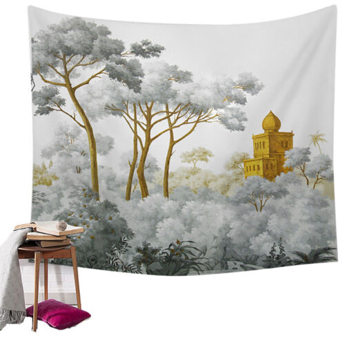 Plants Pattern Tapestry Nature Wall Hanging Bedspread Throw Cover Home Decor