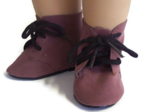 """Brown Suede Tie Boots made for 18/"""" American Girl Doll Clothes"""
