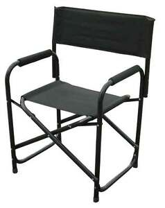 Image Is Loading Directors Chairs Standard Height Folding Chair Black  Aluminum