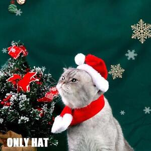 1x Christmas Pet Santa Hat Dog Cat Puppy Kitten Small Animals Hat Costume New