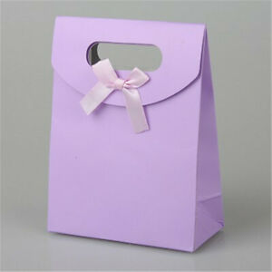 60pcs-Plum-Paper-Party-Gift-Wrapping-Bags-with-Ribbon-Bowknot-Design-16-3x12-3cm
