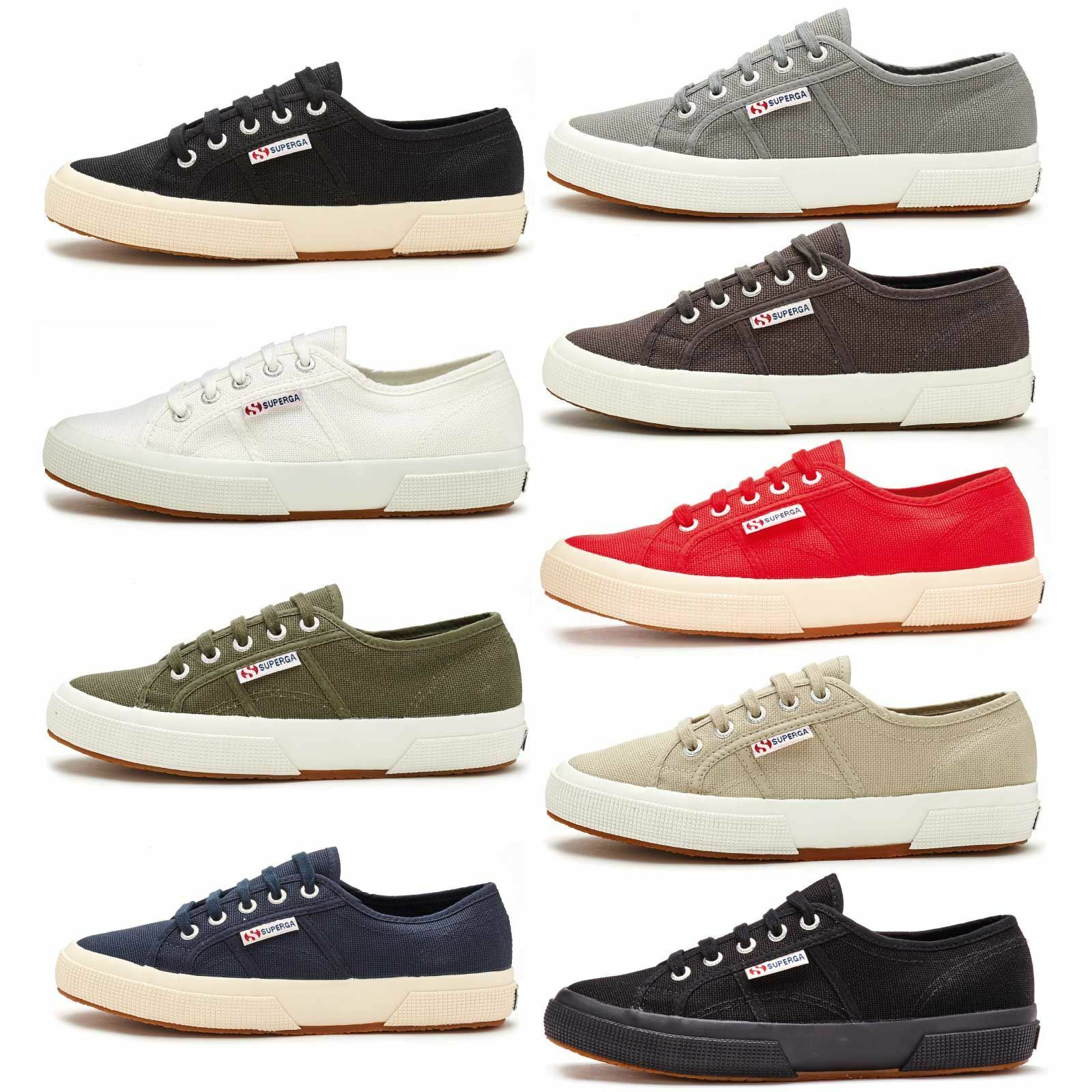 Superga 2750 Cotu Classic Canvas  Chaussures  in  blanc  Taupe,  noir ,  Gris  bleu & Green