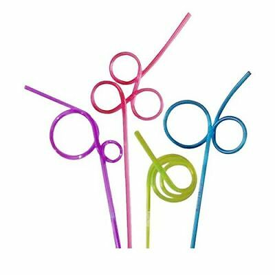 CRAZY CURLY COLOURED STRAW NOVELTY PARTY BAG FILLER PLASTIC FUN CHILDREN KIDS