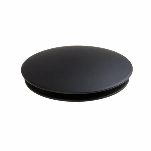 BLACK unslotted pop up waste bathroom bath basin SOLID QUALITY BRASS click clack