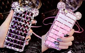 NEW-COOL-DIAMOND-MICKY-MINNIE-BLING-DIAMANTE-CASE-COVER-IPHONE-6-6S-7-GALAXY-S7