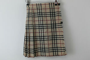 BURBERRY-LONDON-Wool-Pleated-Skirt-Size-UK-6