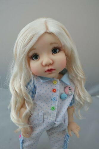 Monique ZSA ZSA Wig Bleach Blonde Size 10-11 BJD shown on My Meadow Mae AG