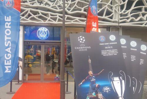 2017 PSG PARIS SAINT GERMAIN v CELTIC CHAMPIONS LEAGUE PROGRAMME FROM GROUND